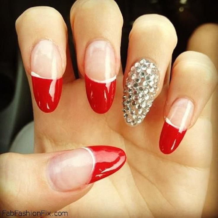 red nail designs 4  10 Attractive Red Nail Designs 2015 red nail designs 4
