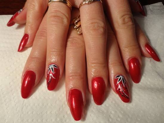 red nail designs 6  10 Attractive Red Nail Designs 2015 red nail designs 6