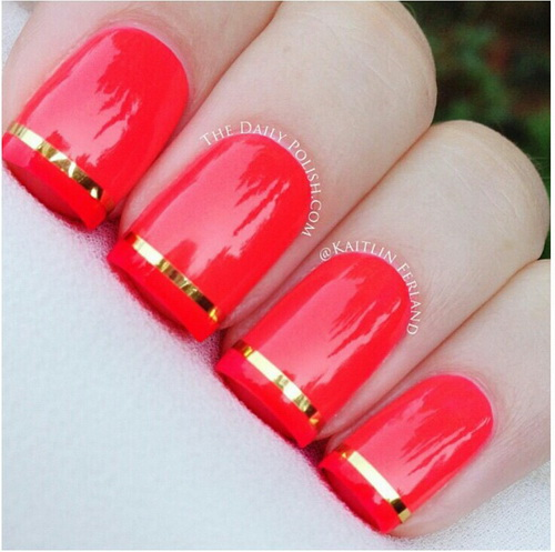 red nail designs 8  10 Attractive Red Nail Designs 2015 red nail designs 8