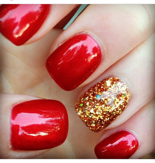 red nail designs 9  10 Attractive Red Nail Designs 2015 red nail designs 9