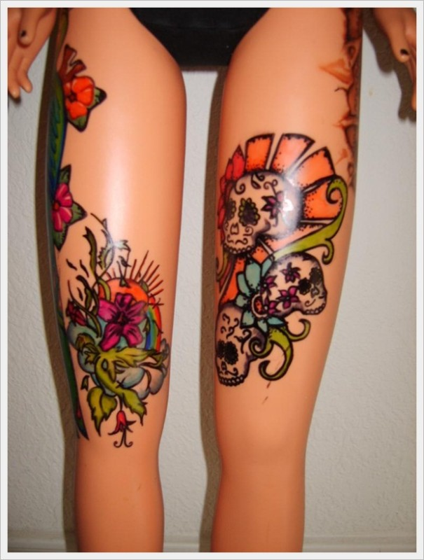 10 tattoo design for women 39 s legs 2015