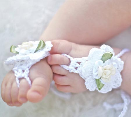 111 40 Cute DIY Baby Barefoot Sandals 2015 40 Cute DIY Baby Barefoot Sandals 2015 11110