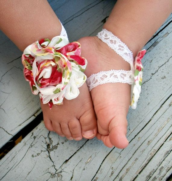 3 40 Cute DIY Baby Barefoot Sandals 2015 40 Cute DIY Baby Barefoot Sandals 2015 330