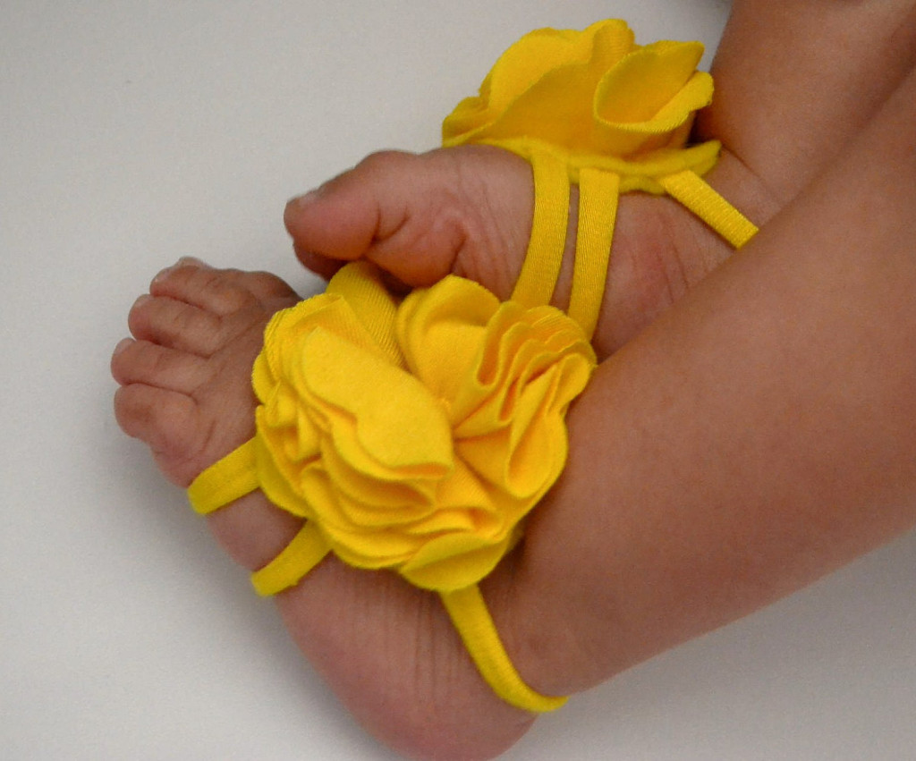 3 40 Cute DIY Baby Barefoot Sandals 2015 40 Cute DIY Baby Barefoot Sandals 2015 333