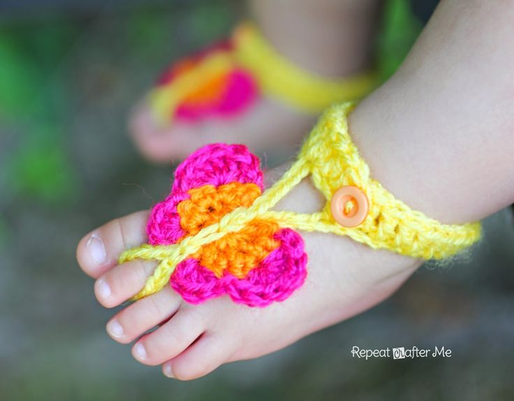 5 40 Cute DIY Baby Barefoot Sandals 2015 40 Cute DIY Baby Barefoot Sandals 2015 528