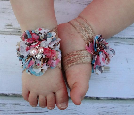 5 40 Cute DIY Baby Barefoot Sandals 2015 40 Cute DIY Baby Barefoot Sandals 2015 529