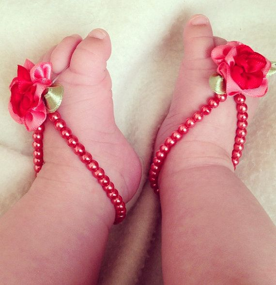 5 40 Cute DIY Baby Barefoot Sandals 2015 40 Cute DIY Baby Barefoot Sandals 2015 530