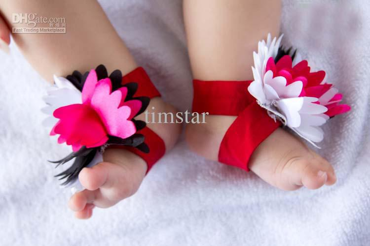6 40 Cute DIY Baby Barefoot Sandals 2015 40 Cute DIY Baby Barefoot Sandals 2015 635