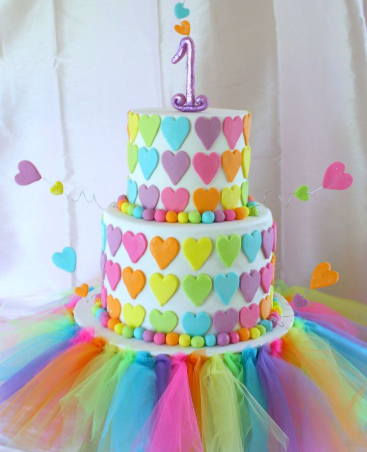 7 10 First Birthday Cake ideas for Girl 2015 10 First Birthday Cake ideas for Girl 2015 723