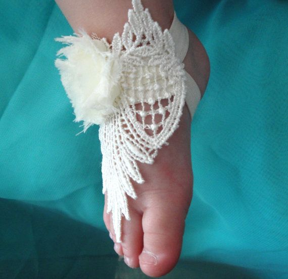 7 40 Cute DIY Baby Barefoot Sandals 2015 40 Cute DIY Baby Barefoot Sandals 2015 729