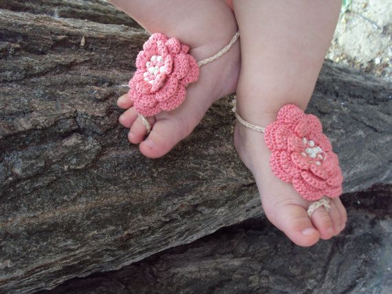 7 40 Cute DIY Baby Barefoot Sandals 2015 40 Cute DIY Baby Barefoot Sandals 2015 730