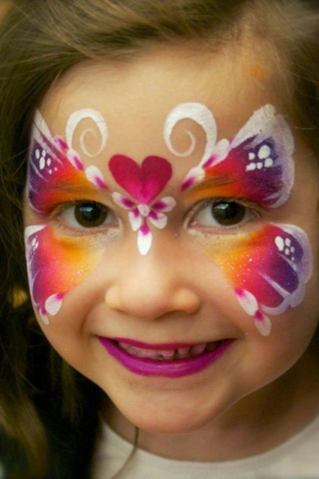 8 10 Cute Face Painting Designs for Kids 2015 10 Cute Face Painting Designs for Kids 2015 823