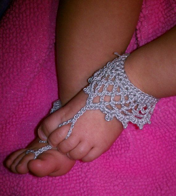 8 40 Cute DIY Baby Barefoot Sandals 2015 40 Cute DIY Baby Barefoot Sandals 2015 830
