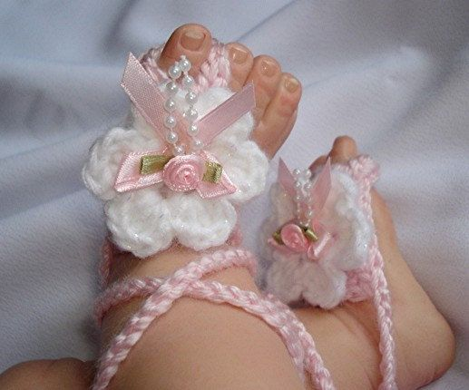 9 40 Cute DIY Baby Barefoot Sandals 2015 40 Cute DIY Baby Barefoot Sandals 2015 930