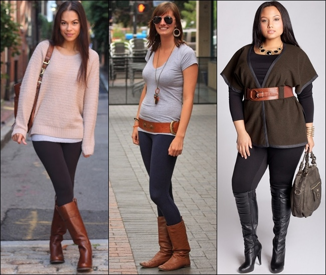 10 Stylish Outfits with Leggings and Boots 2015 10 Stylish Outfits with Leggings and Boots 2015 Outfits with Leggings and Boots 2015 1