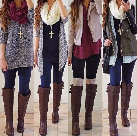 Outfits with Leggings and Boots 2015 - 2 10 Stylish Outfits with Leggings and Boots 2015 10 Stylish Outfits with Leggings and Boots 2015 Outfits with Leggings and Boots 2015 2