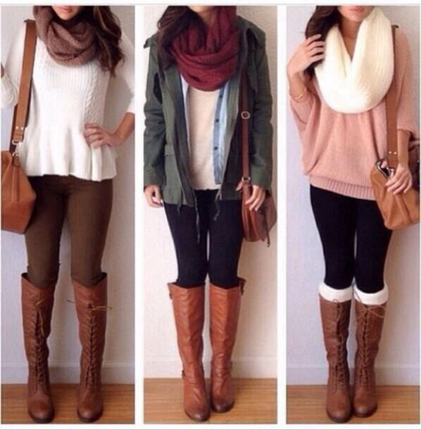 10 Stylish Outfits with Leggings and Boots 2015 10 Stylish Outfits with Leggings and Boots 2015 Outfits with Leggings and Boots 2015 9