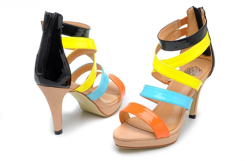 Multi color high heel sandals 20 Mind-blowing Multi Color Sandals 2015 20 Mind-blowing Multi Color Sandals 2015 multi color sandal 1