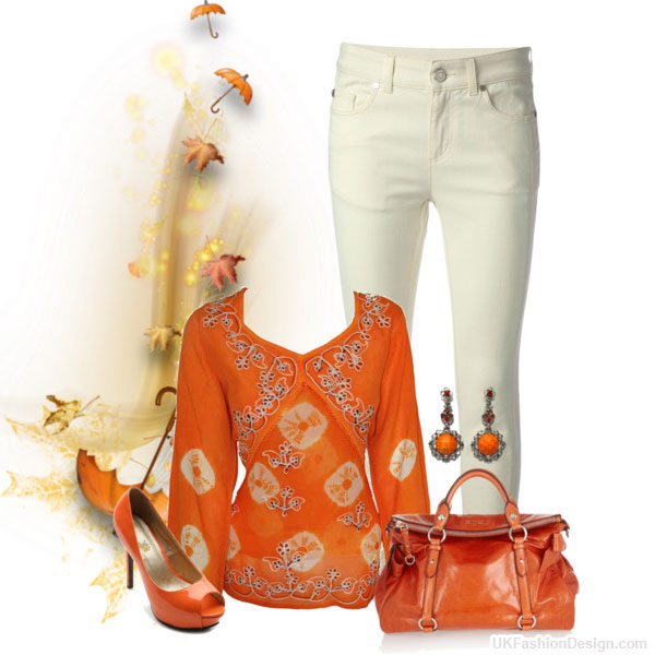 outfit-orange-color---25 30 Stylish Orange Outfit ideas at Polyvore 2015 30 Stylish Orange Outfit ideas at Polyvore 2015 outfit orange color 25