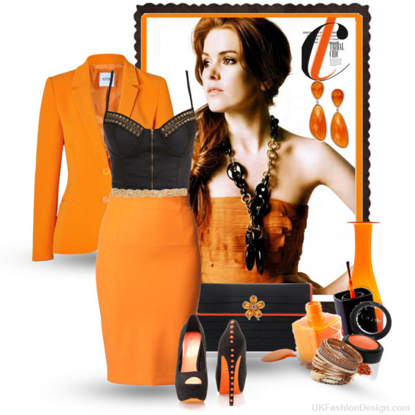 outfit-orange-color---28 30 Stylish Orange Outfit ideas at Polyvore 2015 30 Stylish Orange Outfit ideas at Polyvore 2015 outfit orange color 28