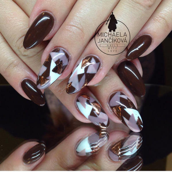 Brown Nail Designs 16 25 Best Brown Nail Designs 2015 you can try with matching dresses 25 Best Brown Nail Designs 2015 you can try with matching dresses Brown Nail Designs 16