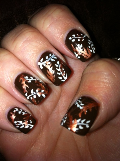 Brown Nail Designs 18 25 Best Brown Nail Designs 2015 you can try with matching dresses 25 Best Brown Nail Designs 2015 you can try with matching dresses Brown Nail Designs 18