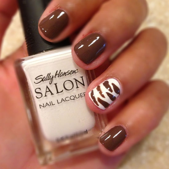 Brown Nail Designs 21 25 Best Brown Nail Designs 2015 you can try with matching dresses 25 Best Brown Nail Designs 2015 you can try with matching dresses Brown Nail Designs 21