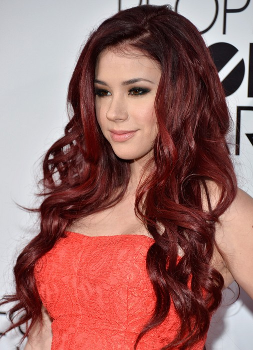Jillian-Rose-Reed-Long-Red-Curly-Hairstyle-for-Women 20 Natural Curly Wavy Hairstyles for Women 2015 20 Natural Curly Wavy Hairstyles for Women 2015 Jillian Rose Reed Long Red Curly Hairstyle for Women