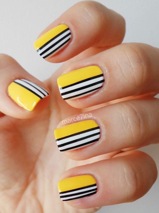 Striped Nail Art Designs 16 30 Unique Striped Nail Art Designs 2015 30 Unique Striped Nail Art Designs 2015 Striped Nail Art Designs 161