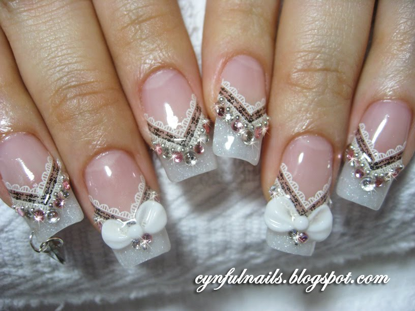View Images Beautiful Wedding Nail Art Designs