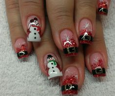 Cute Acrylic Nail Designs For Christmas Papillon Day Spa