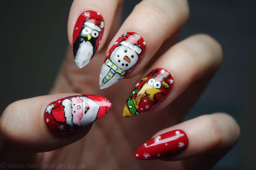 30 Best Acrylic Nail Designs Christmas 201516