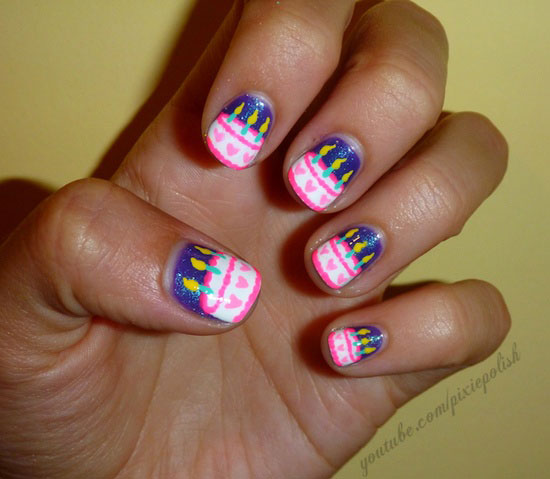 birthday nail art designs 11 30 Easy Birthday Nail Art Designs 2015 30 Easy Birthday Nail Art Designs 2015 birthday nail art designs 111