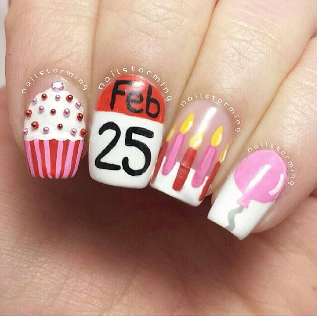 birthday nail art designs 12 30 Easy Birthday Nail Art Designs 2015 30 Easy Birthday Nail Art Designs 2015 birthday nail art designs 121