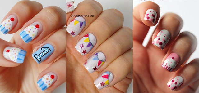 birthday nail art designs 13 30 Easy Birthday Nail Art Designs 2015 30 Easy Birthday Nail Art Designs 2015 birthday nail art designs 131