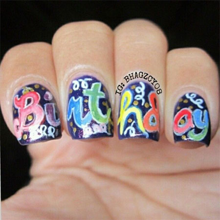 birthday nail art designs 17 30 Easy Birthday Nail Art Designs 2015 30 Easy Birthday Nail Art Designs 2015 birthday nail art designs 171