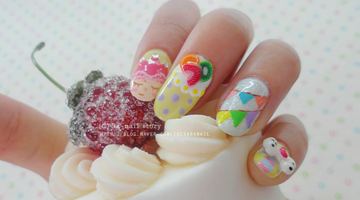 birthday nail art designs 19 30 Easy Birthday Nail Art Designs 2015 30 Easy Birthday Nail Art Designs 2015 birthday nail art designs 191