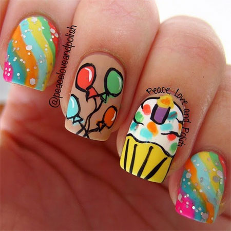 birthday nail art designs 21 30 Easy Birthday Nail Art Designs 2015 30 Easy Birthday Nail Art Designs 2015 birthday nail art designs 211