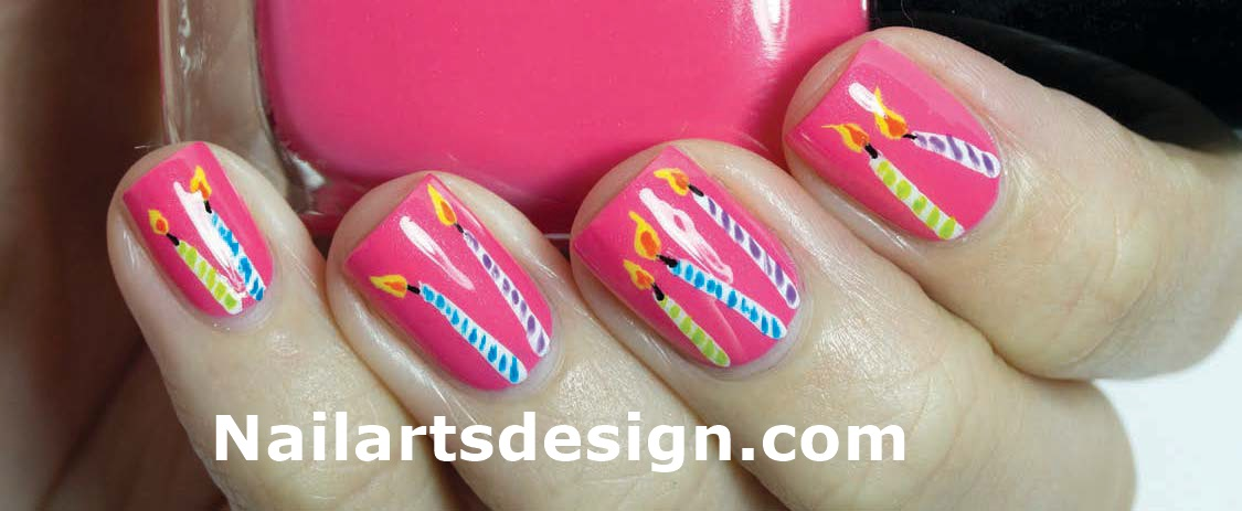 birthday nail art designs 22 30 Easy Birthday Nail Art Designs 2015 30 Easy Birthday Nail Art Designs 2015 birthday nail art designs 221