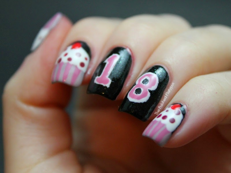 birthday nail art designs 27 30 Easy Birthday Nail Art Designs 2015 30 Easy Birthday Nail Art Designs 2015 birthday nail art designs 271