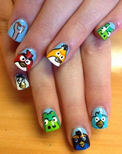 30 easy birthday nail art designs 2015 - Unas decoradas faciles ...