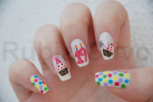 birthday nail art designs 5 30 Easy Birthday Nail Art Designs 2015 30 Easy Birthday Nail Art Designs 2015 birthday nail art designs 51