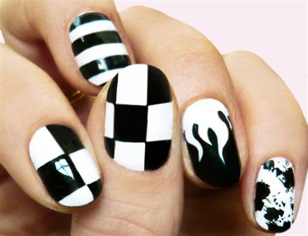 black and white nail art designs 16 25 Unique Black and White Nail Art Designs 2015 25 Unique Black and White Nail Art Designs 2015 black and white nail art designs 16