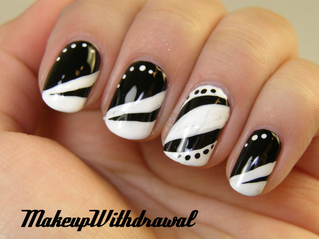 black and white nail art designs 18 25 Unique Black and White Nail Art Designs 2015 25 Unique Black and White Nail Art Designs 2015 black and white nail art designs 18
