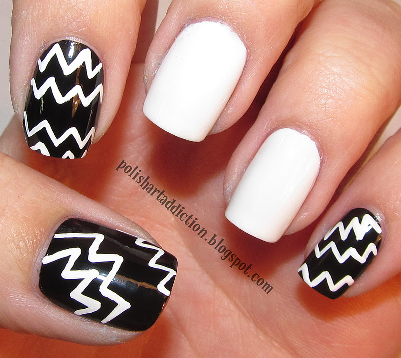 black and white nail art designs 3 25 Unique Black and White Nail Art Designs 2015 25 Unique Black and White Nail Art Designs 2015 black and white nail art designs 3
