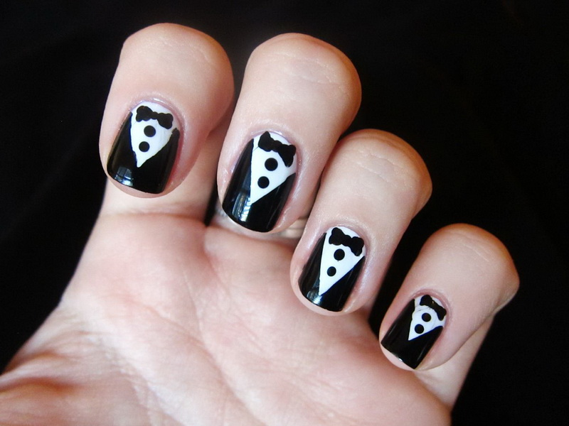 black and white nail art designs 4 25 Unique Black and White Nail Art Designs 2015 25 Unique Black and White Nail Art Designs 2015 black and white nail art designs 4