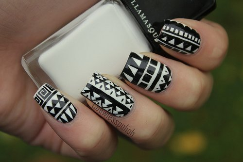 black and white nail art designs 5 25 Unique Black and White Nail Art Designs 2015 25 Unique Black and White Nail Art Designs 2015 black and white nail art designs 5
