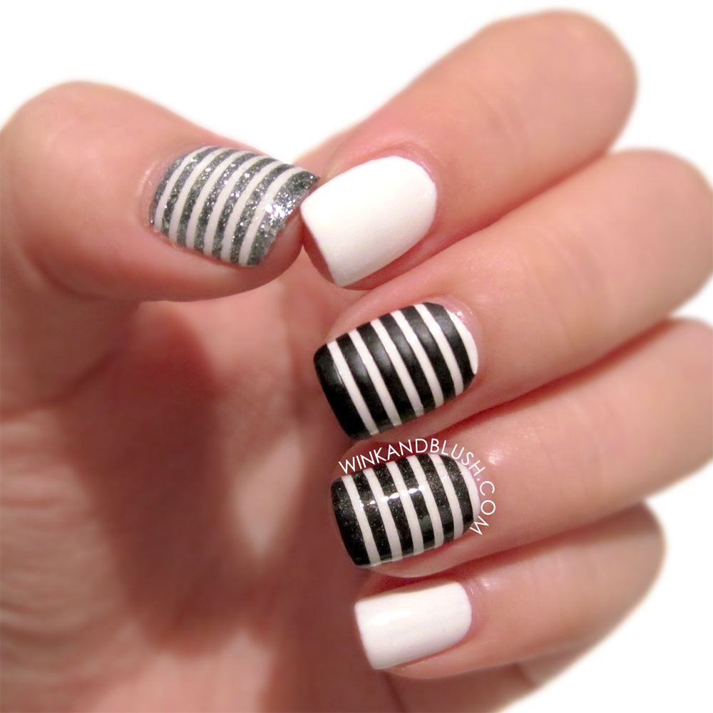 30 Unique Striped Nail Art Designs 2015 30 Unique Striped Nail Art Designs 2015 30 Unique Striped Nail Art Designs 2015 black grey white stripes 21
