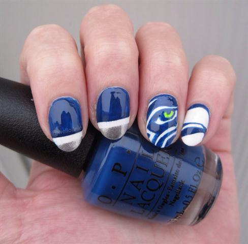 blue nail design 10 20 Stylish Blue Nail Designs of Short nails 2015/16 20 Stylish Blue Nail Designs of Short nails 2015/16 blue nail design 10