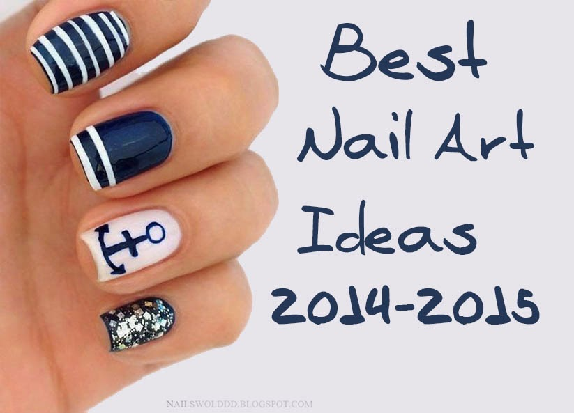20 stylish blue nail designs of short nails 201516